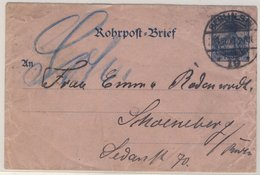 DR - 30 Pfg. Germania Rohrpost-Ganzsache/Umschlag  Berlin SW19 - Schöneberg 1900 - Deutschland
