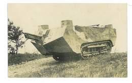 CARTE-PHOTO 10 POIVRES MAILLY-LE-CAMP CHAR D ASSAUT AU REPOS 14 OCTOBRE 1917 - Mailly-le-Camp