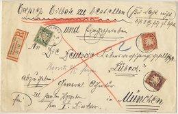 Bayern - 50+10+5 Pfg. Wappen Eilboten Einschreiben (2.Gew.st.) Regensburg 2 Bhf - Bayern (Baviera)