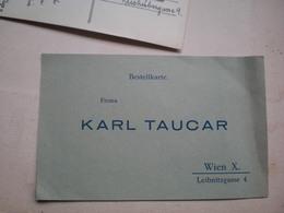 Bestellkarte Firma Karl Taucar Wien - Austria