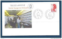 Env Dernier Voyage De L'ambulant ,toulouse à  Marseille -2è D, 31-1-93, , N°2376 Y Et T - Marcophilie (Lettres)