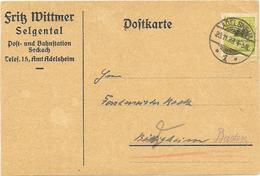 DR Infla Brief EF Mi.328 Adelsheim 23.11.23, Geprüft - Deutschland