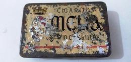 MELIA-BOITE METALLIQUE CIGARITOS- SOCIETE MELIA -ALGER - Zigarettenzubehör