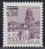 Yugoslavia 1980 Definitive 5 Din Overprint On 0.75 Din, MNH (**) Michel 1856 - Ungebraucht