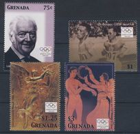 Olympics 2004 - History - Athletics - GRENADA - Set MNH - Zomer 2004: Athene