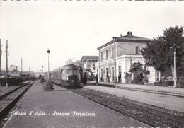 CALUSCO D'ADDA - BERGAMO - STAZIONE FERROVIARIA CON TRENO - FERROVIE - TRASPORTI - Bergamo