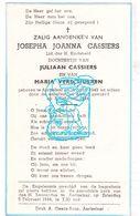 DP Josepha J. Cassiers / Verschueren ° Aartselaar 1943 † 1944 - Devotion Images