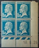 FRANCE - MLH - YT 181 - Pasteur Coin Daté Du 10.8.26 - Coins Datés