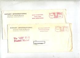 Lettre Flamme Ema Evanston Rotary Club - Postal History