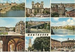 82. CPM. Tarn Et Garonne.Montauban. Pont Vieux, La Cathédrale, Musée Ingres Et Villebourbon, Place De La Préfecture (9 V - Montauban