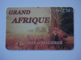 """Carte Prépayée Française """" Grand Afrique """"  (utilisée Avec Trace D'usure). - Frankrijk"""