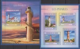 Phare Lighthouse Vuurtoren Leuchttürme Faro Fari NIGER 2016 NEUF** MNH - Lighthouses