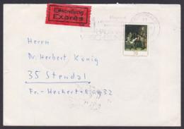 Dresden Gemäldegalerie 70 Pf. Briefschreibende Offizier,G. Terborch DDR 2198 Eil-Brief - [6] République Démocratique