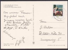 Dresden Gemäldegalerie DDR 2197 Portogenau Ausl-Karte Nach Köln Aus Grimma Sachsen, Fotokarte Neubauten, Kaufhalle - Briefe U. Dokumente