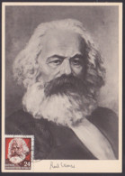 MC Karl Marx 24 Pf. DDR 349, SoSt. 15.12.55, Philosoph, Ak Nach Gemälde Von Hans Seckelmann - DDR