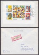 Junge Pioniere Zeichnungen Musikanten, Soldat, Sonne, Halstuch  DDR 1991/94 R-Brief, SoSt. Berlin 26.11.74 Ausgabetag - [6] Oost-Duitsland