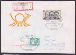 Harro Schulze-Boysen DDR 2782 R-Doppel-Brief, Portogenau SoSt. Berlin 22.3.83 Ausgabetag, Marke Aus Bl. 70 - [6] République Démocratique