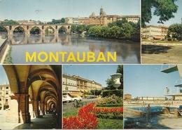 82. CPM. Tarn Et Garonne.Montauban. Divers Aspects (5 Vues) - Montauban