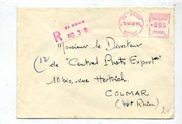 Lettre  Recommandée Machine Saint Denis - Poststempel (Briefe)