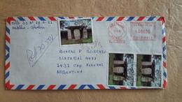 Enveloppe Colombienne Diffusée Avec Des Timbres D'archéologie - Archéologie