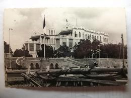 Carte Postale Djibouti - Palais Du Gouverneur (Petit Format Noir Et Blanc Oblitérée 1957 Timbre Cotes Des Somalis ) - Gibuti