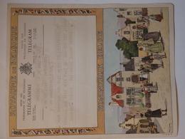 Télégramme Belge Envoyé De Everberg Par Prince Amaury Merode à Jean Coenraets 9 Avede Brocqueville Bruxelles. - Vieux Papiers