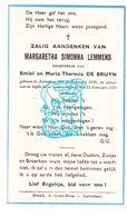 DP Margaretha Simonna Lemmens / De Bruyn † Aartselaar 1939 / G. Gezelle - Devotion Images