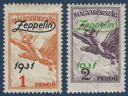 Hongrie N°24 & 25 * 1 & 2 Pengo Tres Frais - Poste Aérienne