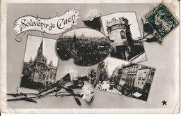 J : CALVADOS : CAEN : Souvenir De Caen, église,château, Rue - Caen
