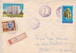 AL. ORASCU, HOSPITAL, STATUETTE, ARCHAEOLOGY, STAMPS ON REGISTERED COVER, 1984, ROMANIA - Cartas