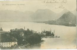 Annecy 1902; Abbaye De Talloire Et Lac D'Annecy - Voyagé. (F.P., L. Pons - Grenoble) - Annecy