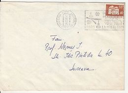 MANSION, STAMPS ON COVER, HAPPY NEW YEAR POSTMARK, 1980, ROMANIA - Cartas
