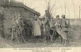 Militaria La Grande Guerre 1914 15 En HAUTE ALSACE  L'Interrogatoire D'un Officier Allemand Espion RV - Guerra 1914-18