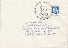 EMIL RACOVITA SPECIAL POSTMARK ON COVER, POTTERYSTAMP, 1983, ROMANIA - Cartas