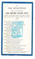 DP Lea Justina Julius Thys † Aartselaar 1929 - Devotion Images