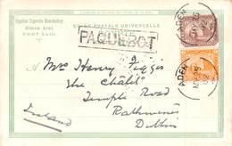 CPA - GARE DE TOUSSOUN WITH ADEN 1902 'PAQUEBOT' POSTMARK #9P04 - Aden (1854-1963)