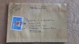 Enveloppe Du Paraguay Diffusée En Argentine Avec Le Timbre De Noël 2002 - Paraguay