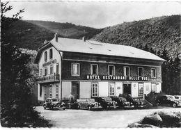 SAINTE -MARIE-AUX-MINES 88 VOSGES  HOTEL RESTAURANT BELLEVUE EDIT. REAL PHOTO AUTOMOBILES - Sainte-Marie-aux-Mines