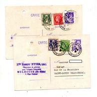 Carte Postale 1f20 Iris + Ceres  Chaine Cachet Mulhouse Troué ! - Entiers Postaux