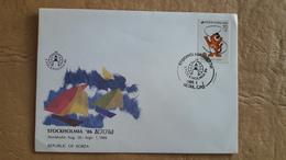 Corée FDC Montre Philanthropique Stockholm 1986 Avec Le Sceau Des Jeux Olympiques De Séoul - Corée Du Sud