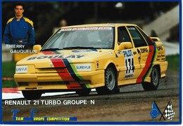 J : CALVADOS :  CAEN : Renault 21 Turbo Groupe N, Thierry Gauquelin, Boulay Briouze Filiale De Caen - Caen
