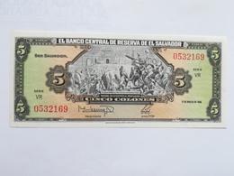 EL SALVADOR 5 COLONES 1988 - El Salvador