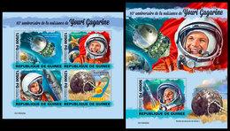 GUINEA 2019 - Yuri Gagarin. M/S + S/S. Official Issue [GU190420] - Space