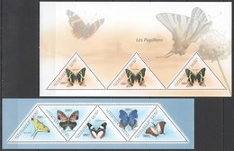 BC256 2011 GUINEE GUINEA FLORA & FAUNA BUTTERFLIES LES PAPILLONS 2KB MNH - Schmetterlinge