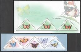 BC258 2011 GUINEE GUINEA FLORA & FAUNA BUTTERFLIES LES PAPILLONS 2KB MNH - Schmetterlinge