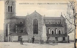 Bouthéon (Loire) L'Eglise Et Le Monument Des Combattants - Edition Gay - Carte Non Circulée - Andrézieux-Bouthéon