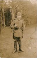 Foto  Soldat, Pickelhaube Tornister - WK1 1916 Privatfoto  - War 1914-18