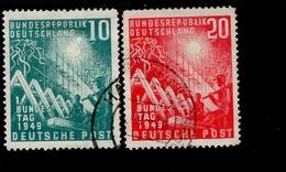 Bund 111 - 112 Erster Bundestag  Gestempelt / Used (4) - Usados