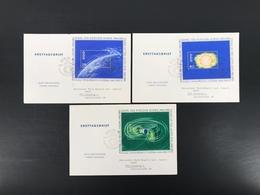 DDR MiNr. Block 20-22 Ersttagsbriefe/ FDC Jahr Der Ruhigen Sonne (B890 - FDC: Briefe