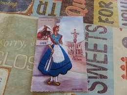 28 - CPSM , Carte BRodée , PLAZA DE TOROS , LUGO , Balonga Cassar - Danze